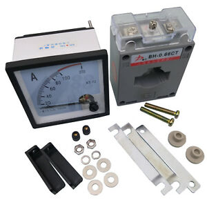 Us Stock Ac 0 100a Analog Amp Current Panel Meter Ammeter Current Transformer