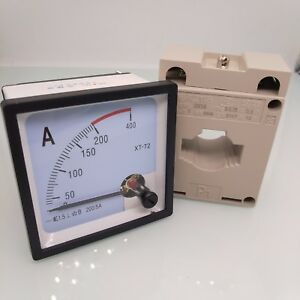 Us Stock Ac 0 200a Analog Amp Current Panel Meter Ammeter Current Transformer