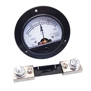 Us Stock Dc 100a 100a Analog Amp Current Needle Panel Meter Ammeter Shunt