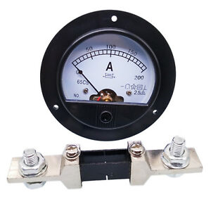 Us Stock Dc 0 200a Analog Amp Current Pointer Needle Panel Meter Ammeter Shunt