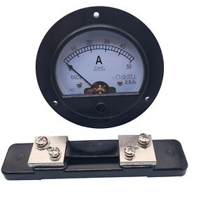 Us Stock Dc 0 50a Analog Amp Current Pointer Needle Panel Meter Ammeter Shunt
