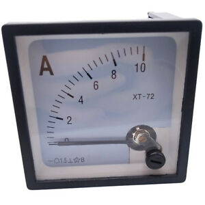 Us Stock Dc 0 10a Analog Amp Current Pointer Needle Panel Meter Ammeter Xt 72