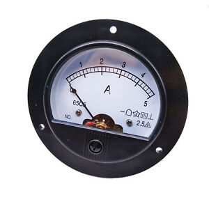 Us Stock Dc 0 5a Round Analog Amp Current Pointer Needle Panel Meter Ammeter
