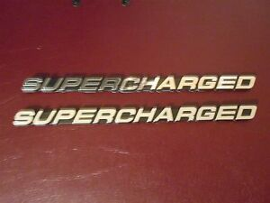 Ford Mustang Saleen Shelby Svt Roush Steeda Supercharged Fender Emblems Pair 7 5