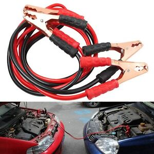 Heavy Duty 6 5ft 2 Gauge Booster Cable Jumping Cables Power Jumper Start