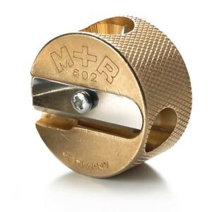 Mobius Ruppert m r Brass Artists Pencil Sharpener Germany 602 double Round