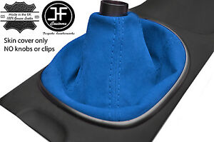 Blue Real Suede Manual Shift Boot Fits Acura Rsx Type S Type R 02 06