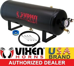 2 5 Gallon 7 Ports Air Tank Kit W Gauge Switch Train Horns suspension Vxt2500