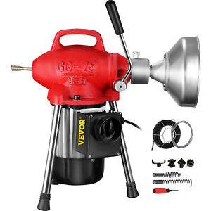 Sectional Pipe Drain Cleaner Cleaning Machine Electric Snake Fit 3 4 4 Pipe