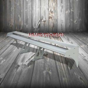 55 Silver Aluminum Racing Gt style Double Wing deck Rear back Trunk Spoiler