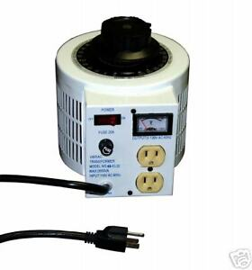 New 2000 Watt 115 Vac Variable Tranfsormer Variac Function