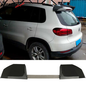 Universal Fit Ikon Style Unpainted 2pcs Suv Add On Roof Spoiler Abs