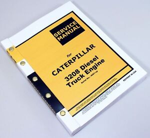Cat Caterpillar 3208 Diesel Truck Engine Service Manual Serial No 40s1 up