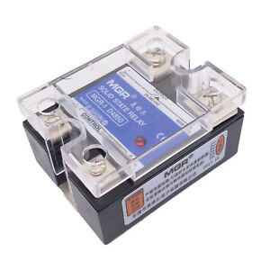 Us Stock 50a Solid State Relay Ssr Dc ac Input 3 32v Dc Load 24 480v Ac D4850