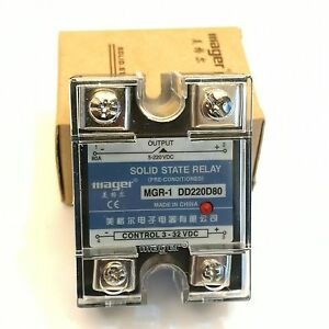 Us Stock 80a Solid State Relay Ssr Dc dc Input 3 32v Dc Load 5 220v Dc Dd220d80