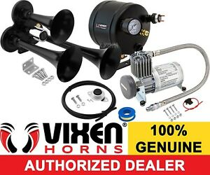 Train Horn Kit For Truck car pickup Loud System 0 5g Air Tank 150psi 3 Trumpets