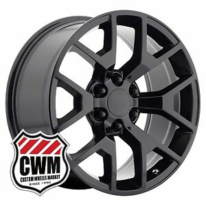 Oe Performance 169gb 20 Inch Gmc Sierra Wheels Gloss Black 20x9 Rims Fit Chevy