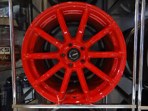 Raysengineering Gram Light 57transcend Wheels 18x9 5 38 5x114 3 Red Wrx Sti