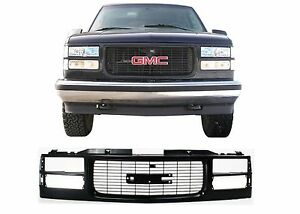 Replacement All Black Paintable Grill For 1994 1999 Gmc Sierra New Free Shipping