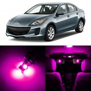 12 X Ultra Pink Interior Led Lights Package For 2010 2013 Mazda 3 Tool