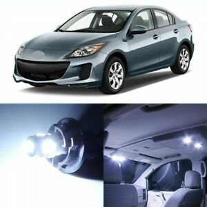 12 X Xenon White Interior Led Lights Package For 2010 2013 Mazda 3 Tool