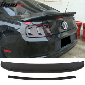 Fits 10 14 Ford Mustang Gt V6 Gt500 Style Unpainted Trunk Spoiler Abs