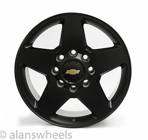 4 Chevy Silverado Hd 2500 3500 8 Lug 8x180 20 Black Gbt Wheels Rims Lugs 5503