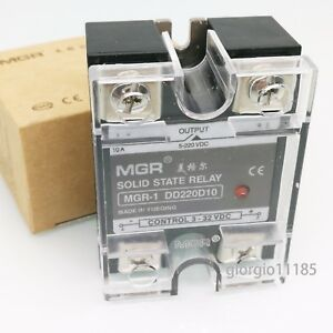 Us Stock 10a Solid State Relay Ssr Dc dc Input 3 32v Dc Load 5 220v Dc Dd220d10