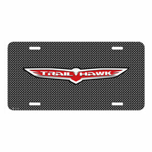 Jeep Trailhawk Mesh Grill Graphic Brush Aluminum Car License Plate Made In Usa