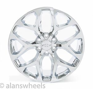 New Chevy Suburban Tahoe Avalanche Chrome Snowflake 22 Wheels Rims Lug Nuts 5668