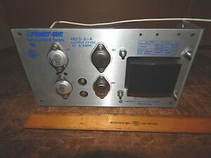 Power One Hd15 6 a Dc Power Supply Tested working