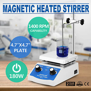 Sh 2 Magnetic Stirrer Hot Plate Dual Controls Combo Plate Mixer Electric Pro
