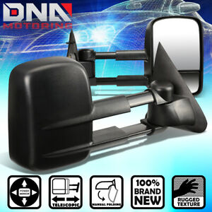 For 1997 2004 Ford F150 F250 Light Duty Pair Powered Side View Tow Towing Mirror