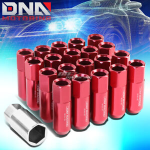 20 Pcs Red M12x1 5 Extended Wheel Lug Nuts Key For Lexus Is250 Is350 Gs460