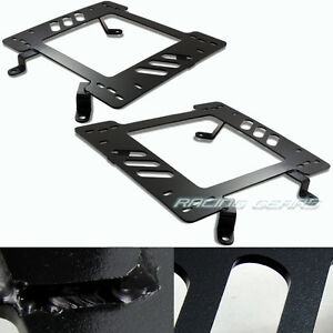 Racing Seat Mount Base Planted Steel Bracket Adapter Fit 79 98 Ford Mustang