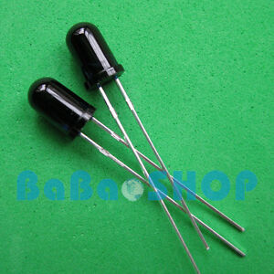20 50 100 1000pcs 5mm 940nm Ir Infrared Receiver Diode Photodiode Led Lamp