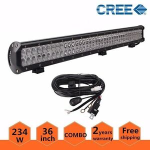 36in 234w Cree Led Light Bar Off Road Driving Combo Truck Lamp With Wire Harness