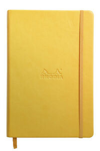 Rhodia Rhodiarama Webbies Notebook Yellow Blank 5 5 X 8 25 R118736