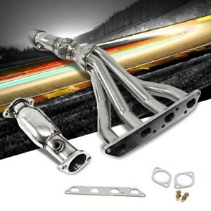 Manzo Stainless Steel Exhaust Header Manifold For 02 06 Mini Cooper S R53 1 6l
