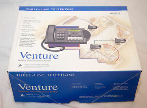 Nortel Aastra Venture 3 Line Telephone Nt2n81 Phone no Voicemail Refurbished