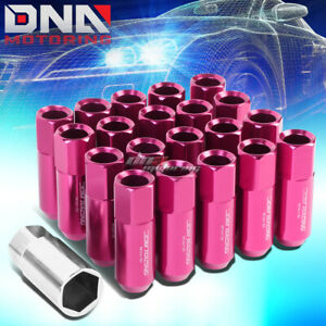 20 Pcs Pink M12x1 5 Extended Wheel Lug Nuts Key For Camry Celica Corolla