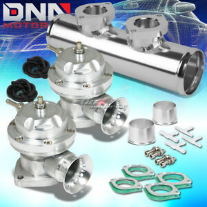 Adjustable Turbo Blow Off Valve Dual Type Rs 2 5 Flange Pipe Adapter Psi Silver