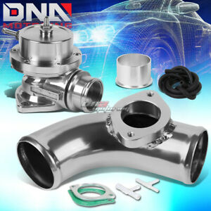 Adjustable Type s Turbo Blow Off Valve Bov 80 Degree Flange Pipe Adapter Silver