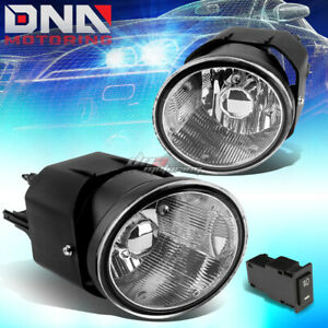 For 01 04 Nissan Frontier sentra Chrome Clear Pair Fog Light Lamp bulb switch