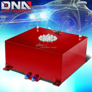 15 5 Gallon 59l Red Aluminum Racing Drift Fuel Gas Cell Tank Cap Level Sender