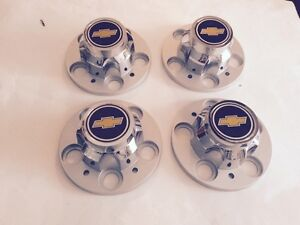 77 95 Chevrolet 5 Lug Truck Rally Wheel Center Caps With Emblem Insert 2 1 2 Set