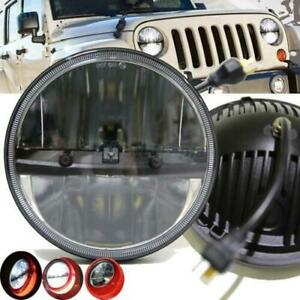 2x 7 Round 30w 6000k White Led Headlight Hi lo Beam For Jeep Wrangler Jk Tj Lj