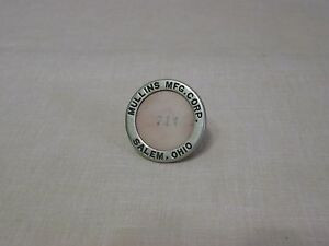 Super Rare Original 1936 1937 Mullins Car Trailer Employee Badge Salem Ohio