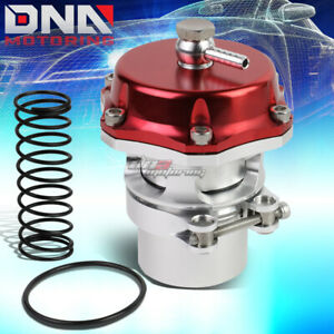 50mm Aluminum Turbo Intercooler 35 Psi Silm Boost V Band Blow Off Valve Red
