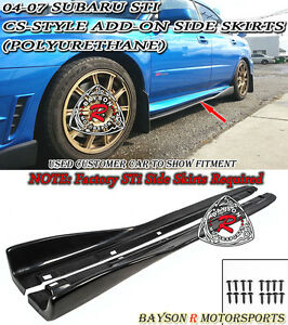 Cs style Add on Side Skirts Fits 04 07 Subaru Impreza Sti